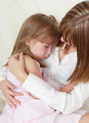 A mother and daughter who are in need of a child custody lawyer in Detroit.